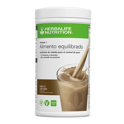 batido café latte herbalife