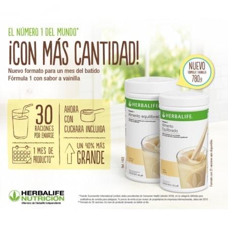 Batido de Vainilla herbalife formula 1 780g