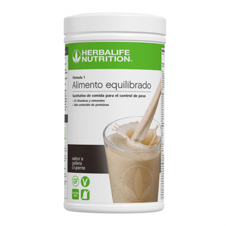 batido galleta crujiente herbalife formula 1
