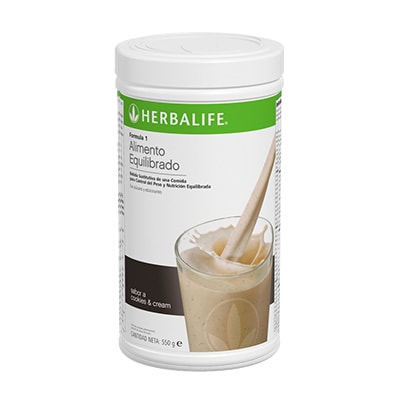 batido de cookies & Cream herbalife