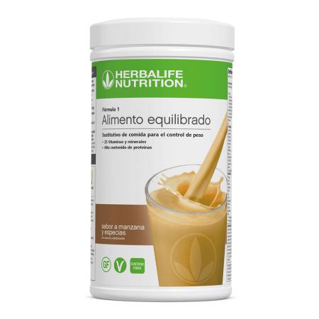 batido manzana y especias herbalife formula 1